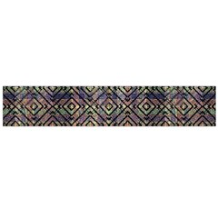 Multicolored Ethnic Check Seamless Pattern Flano Scarf (Large)