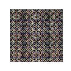 Multicolored Ethnic Check Seamless Pattern Small Satin Scarf (square)