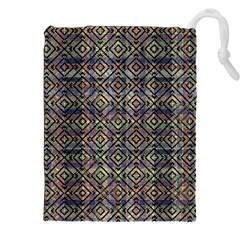 Multicolored Ethnic Check Seamless Pattern Drawstring Pouch (xxl)