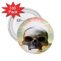 Skull Sunset 2.25  Buttons (100 pack)