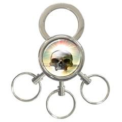 Skull Sunset 3 Ring Key Chains
