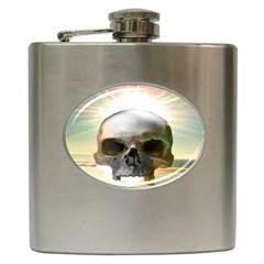Skull Sunset Hip Flask (6 oz)