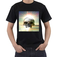 Skull Sunset Men s T Shirt (black) (two Sided)