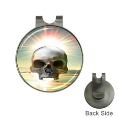 Skull Sunset Hat Clips With Golf Markers