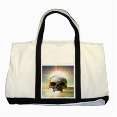 Skull Sunset Two Tone Tote Bag