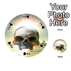 Skull Sunset Playing Cards 54 (Round)