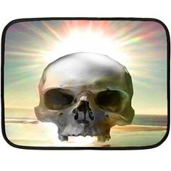 Skull Sunset Fleece Blanket (mini)