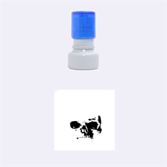 Skull Sunset Rubber Round Stamps (Small)