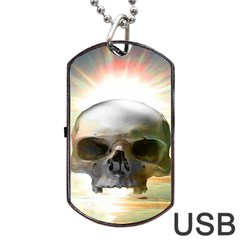 Skull Sunset Dog Tag USB Flash (Two Sides)