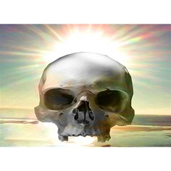 Skull Sunset Birthday Cake 3D Greeting Card (7x5)