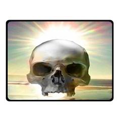 Skull Sunset Double Sided Fleece Blanket (Small)