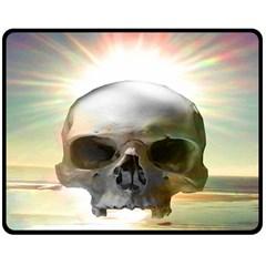 Skull Sunset Double Sided Fleece Blanket (Medium)