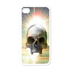 Skull Sunset Apple Iphone 4 Case (white)