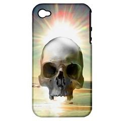 Skull Sunset Apple Iphone 4/4s Hardshell Case (pc+silicone)