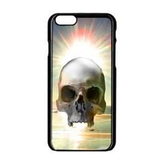 Skull Sunset Apple Iphone 6/6s Black Enamel Case
