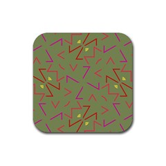 Angles Rubber Square Coaster (4 pack)