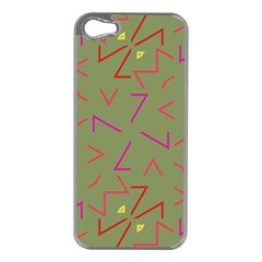 Angles Apple iPhone 5 Case (Silver)