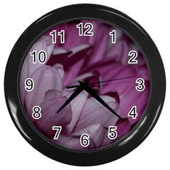 Purple! Wall Clocks (Black)