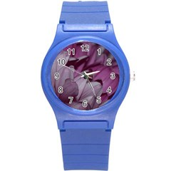 Purple! Round Plastic Sport Watch (S)