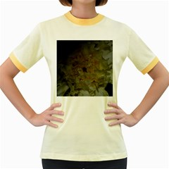 Yellow Flower Women s Fitted Ringer T Shirts