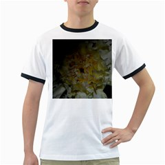 Yellow Flower Ringer T Shirts