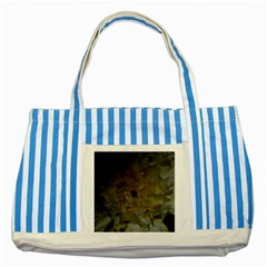 Yellow Flower Striped Blue Tote Bag