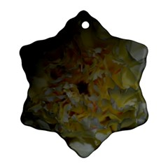 Yellow Flower Snowflake Ornament (2-Side)