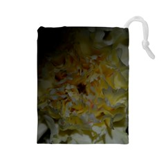 Yellow Flower Drawstring Pouches (Large)