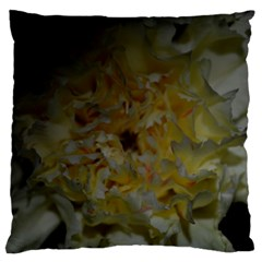 Yellow Flower Large Flano Cushion Cases (one Side)