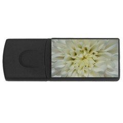 White Flowers USB Flash Drive Rectangular (1 GB)
