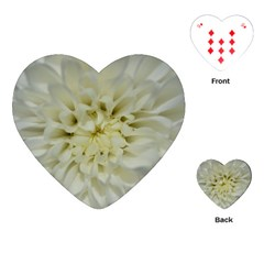 White Flowers Playing Cards (Heart)