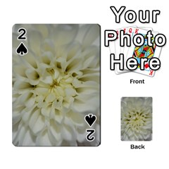 White Flowers Playing Cards 54 Designs