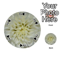 White Flowers Playing Cards 54 (round)