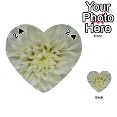 White Flowers Playing Cards 54 (heart)