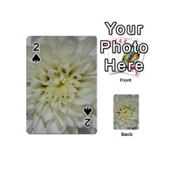 White Flowers Playing Cards 54 (mini)