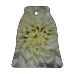 White Flowers Bell Ornament (2 Sides)