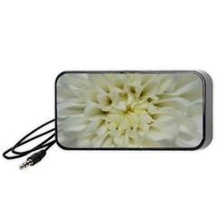 White Flowers Portable Speaker (Black)