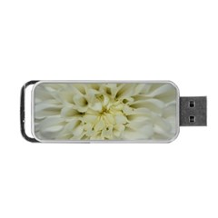 White Flowers Portable Usb Flash (two Sides)