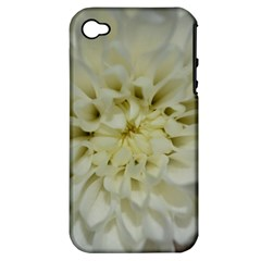 White Flowers Apple iPhone 4/4S Hardshell Case (PC+Silicone)