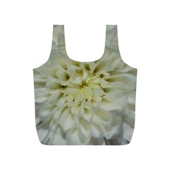White Flowers Full Print Recycle Bags (s)
