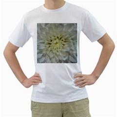 White Flowers Men s T-Shirt (White)