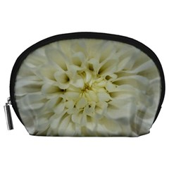 White Flowers Accessory Pouches (large)