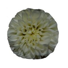 White Flowers Standard 15  Premium Flano Round Cushions