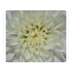 White Flowers Double Sided Flano Blanket (large)