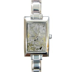 White Flowers 2 Rectangle Italian Charm Watches