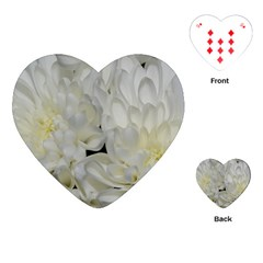 White Flowers 2 Playing Cards (heart)