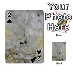 White Flowers 2 Playing Cards 54 Designs