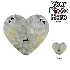 White Flowers 2 Playing Cards 54 (Heart)