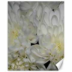 White Flowers 2 Canvas 11  x 14