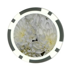White Flowers 2 Poker Chip Card Guards
